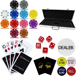 High Quality 500 Piece, 12g Suited Poker Chip Set