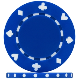 High Quality Blue Suited Poker Chips