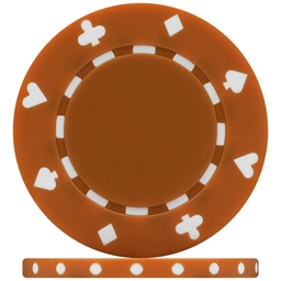 High Quality Brown Suited Poker Chips