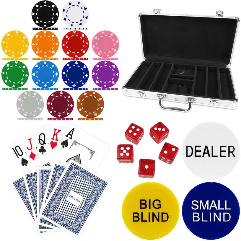 High Quality 300 Piece Suited Poker Chip Set