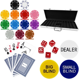 High Quality 500 Piece Suited Poker Chip Set