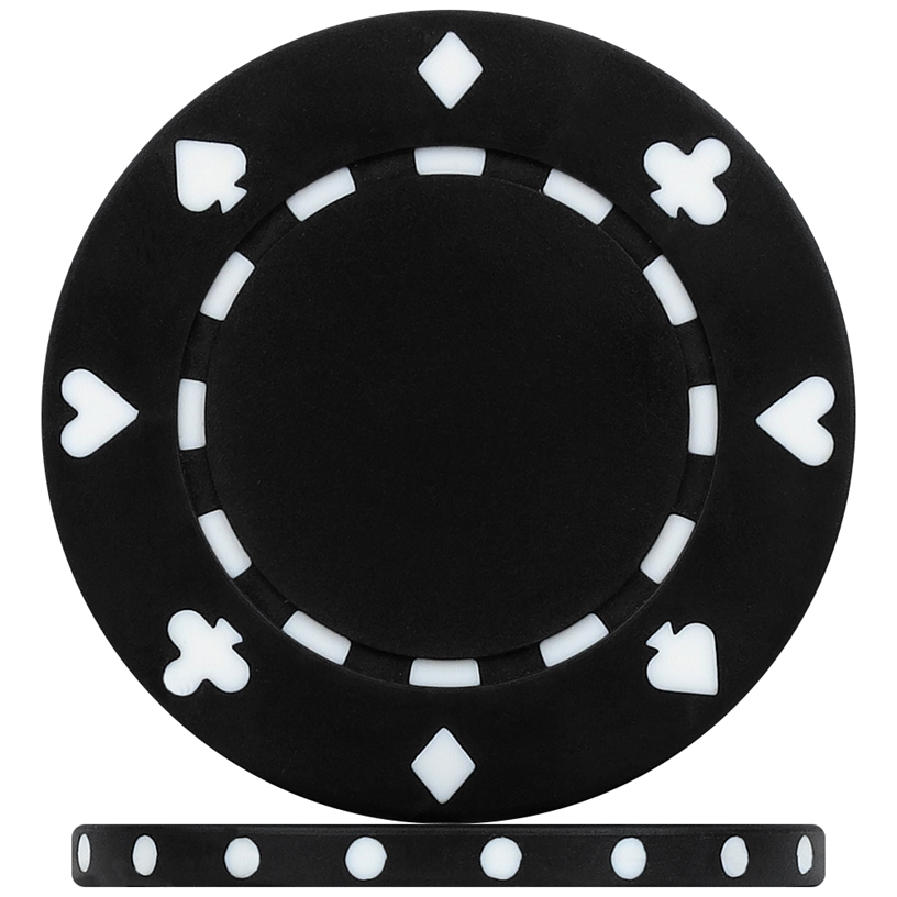 High Quality Black Suited Poker Chips