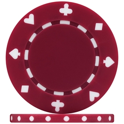 High Quality Burgundy Suited Poker Chips