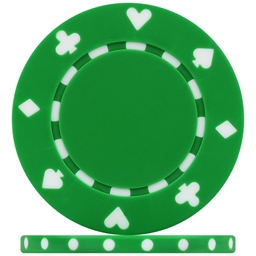 High Quality Green Suited Poker Chips