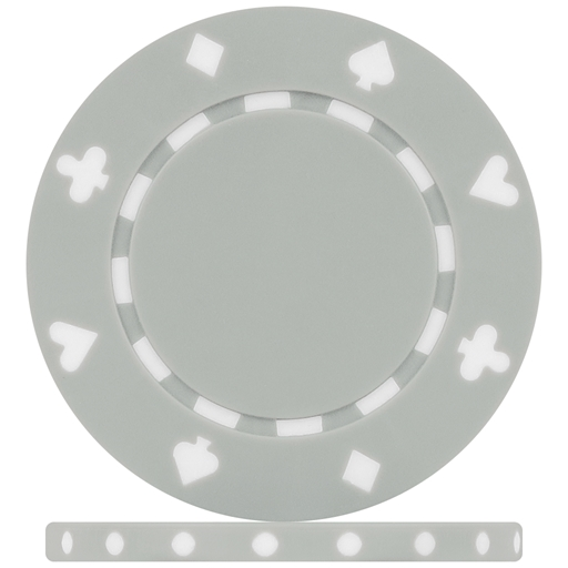 High Quality Grey Suited Poker Chips