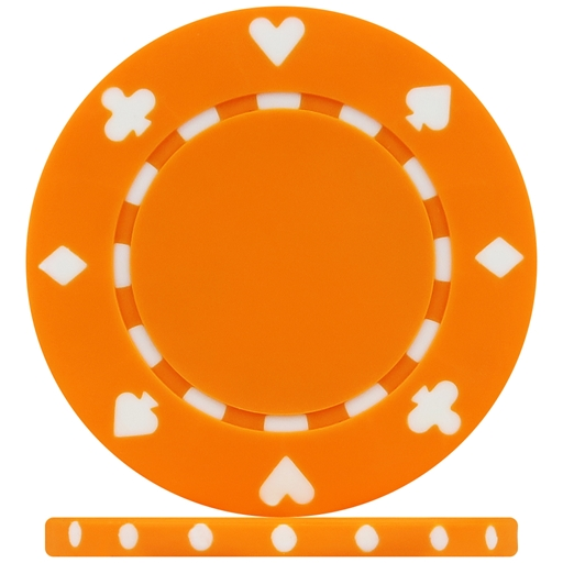 High Quality Orange Suited Poker Chips