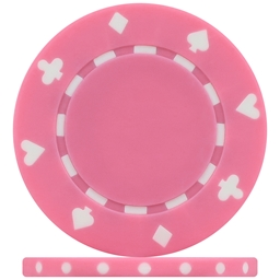 High Quality Pink Suited Poker Chips