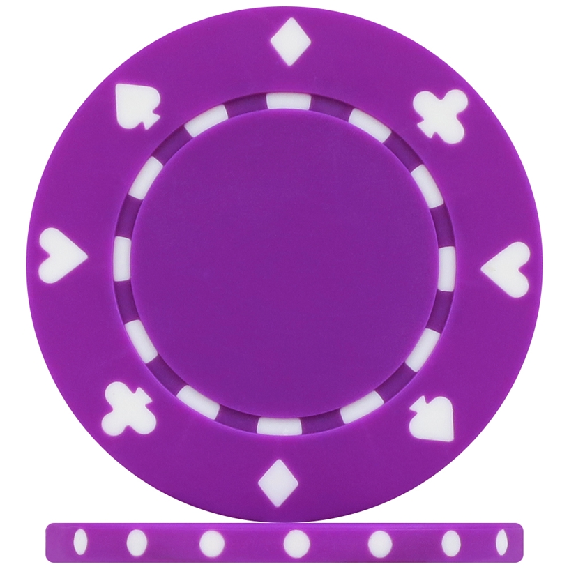 High Quality Purple Suited Poker Chips