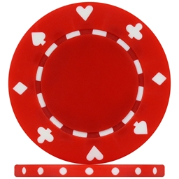 High Quality Red Suited Poker Chips