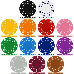 High Quality Suited Poker Chip Sample Pack