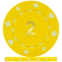 Suited Numbered Poker Chips Yellow 2