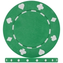 Standard Green Suited Poker Chips