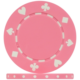 Standard Peach Pink Suited Poker Chips