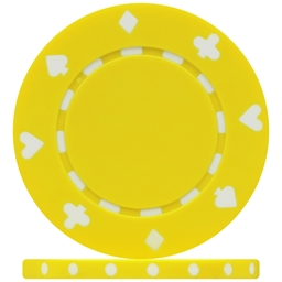 High Quality Yellow Suited Poker Chips
