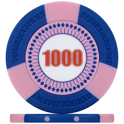 Tri-Gen Numbered Tournament Poker Chips - Blue 1000