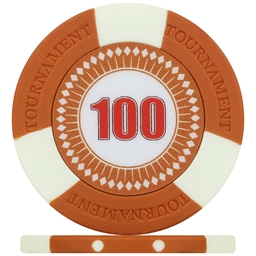 Tri-Gen Numbered Tournament Poker Chips - Orange 100