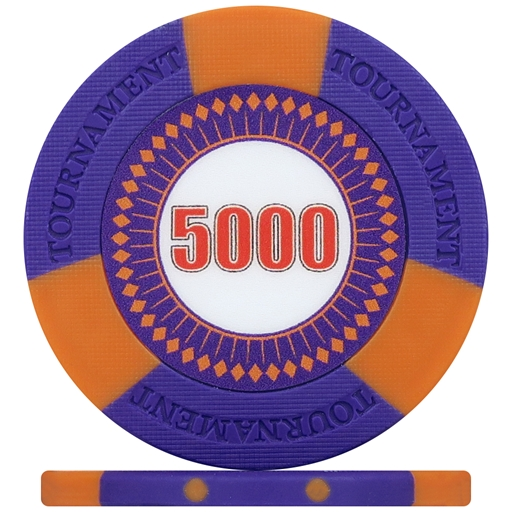 Tri-Gen Numbered Tournament Poker Chips - Purple 5000