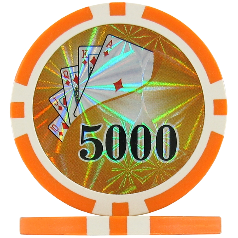 Orange 5000 - Ying Yang Poker Chips