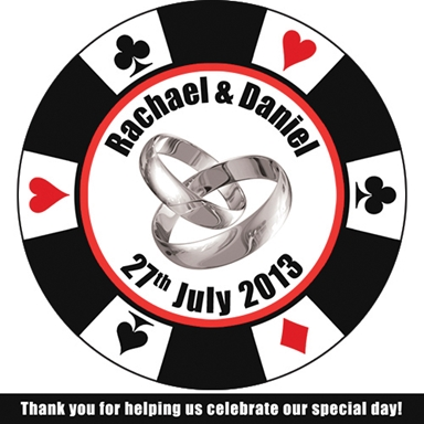 Wedding, Stag and Hen Poker Chips