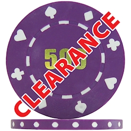 Clearance Suited Numbered Poker Chips