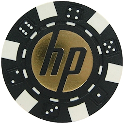 Dice Style Custom Hot Foil Printed Poker Chips