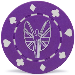 Suited Style Custom Hot Foil Printed Poker Chips
