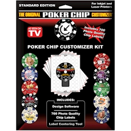 The Original Poker Chip Customizer Kit & Accessories
