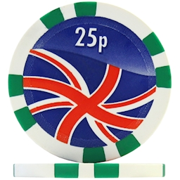 Union Jack Numbered Poker Chips