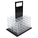 1000 Piece Acrylic Poker Chip Carrier with Trays