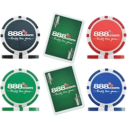 888.com Poker Chip and Card - Sample Pack