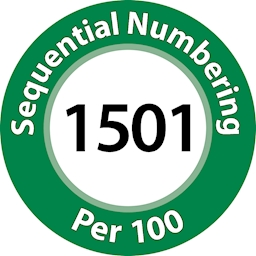 Customised 8 Stripe Serialisation Per 100 Numbers