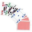 COPAG 4 Colour 100% Plastic Playing Cards Red