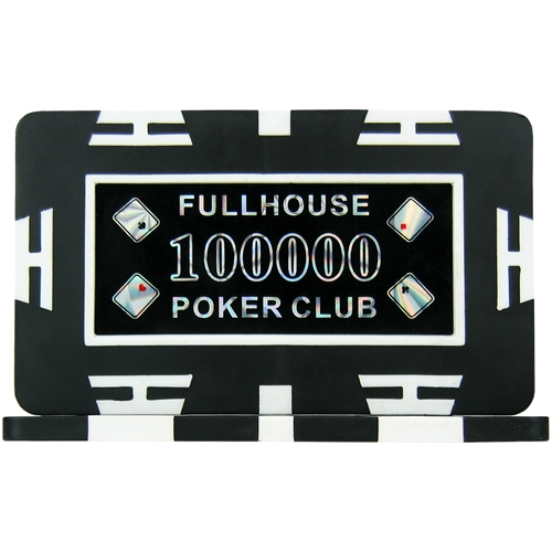 Full House Poker Club Plaques - Black 100000 (Pack of 5)