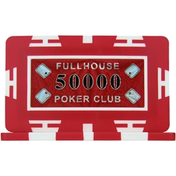 Full House Poker Club Plaques - Red 50000 (Pack of 5)