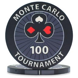 Monte Carlo Tournament Poker Chips Black 100