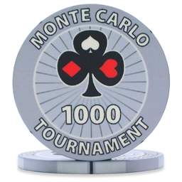 Monte Carlo Tournament Poker Chips Grey 1000