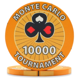 Monte Carlo Tournament Poker Chips Orange 10000