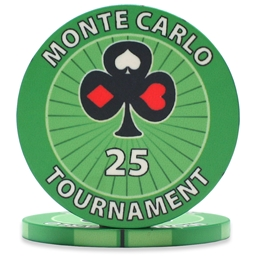 Monte Carlo Tournament Poker Chips Green 25