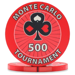 Monte Carlo Tournament Poker Chips Red 500