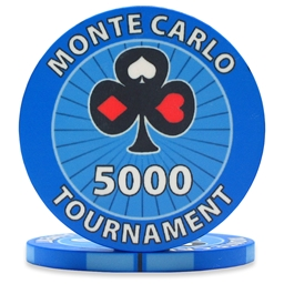 Monte Carlo Tournament Poker Chips Blue 5000