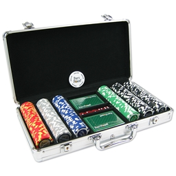 Party Poker 300 Poker Chip Set in PartyPoker .com Chip Case