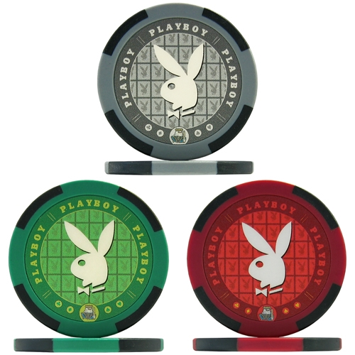 Playboy Poker Chips - Sample Pack of All 3 Colours