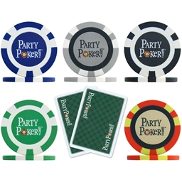 PartyPoker.com Poker Chip and Card - Sample Pack