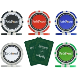 PartyPoker.net Poker Chip and Card - Sample Pack