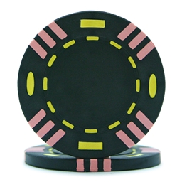 Tri Colour Poker Chips Black