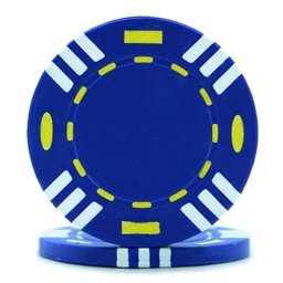 Tri Colour Poker Chips Blue