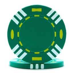 Tri Colour Poker Chips Green