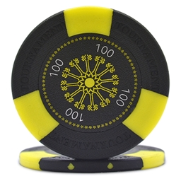 Tri-Gen Numbered Poker Chips Black 100