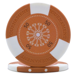 Tri-Gen Numbered Poker Chips Orange 50