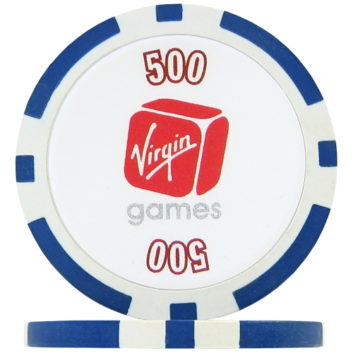 Virgin Numbered Poker Chips - Blue 500 (Roll of 25)